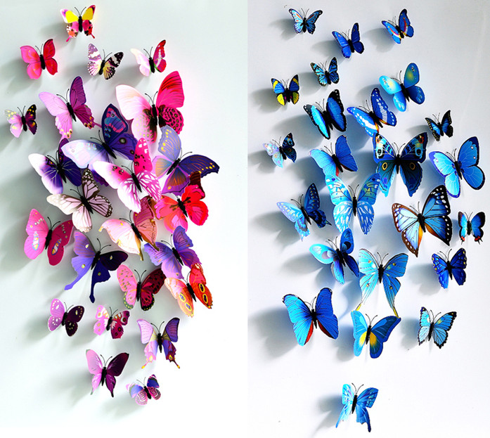 3d wall decals butterflies