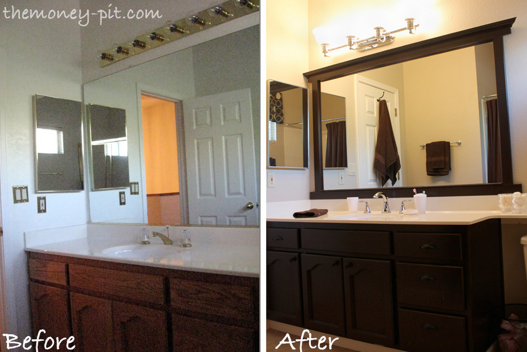 Adding a frame to a bathroom mirror interior design ideas for How to frame mirror in bathroom