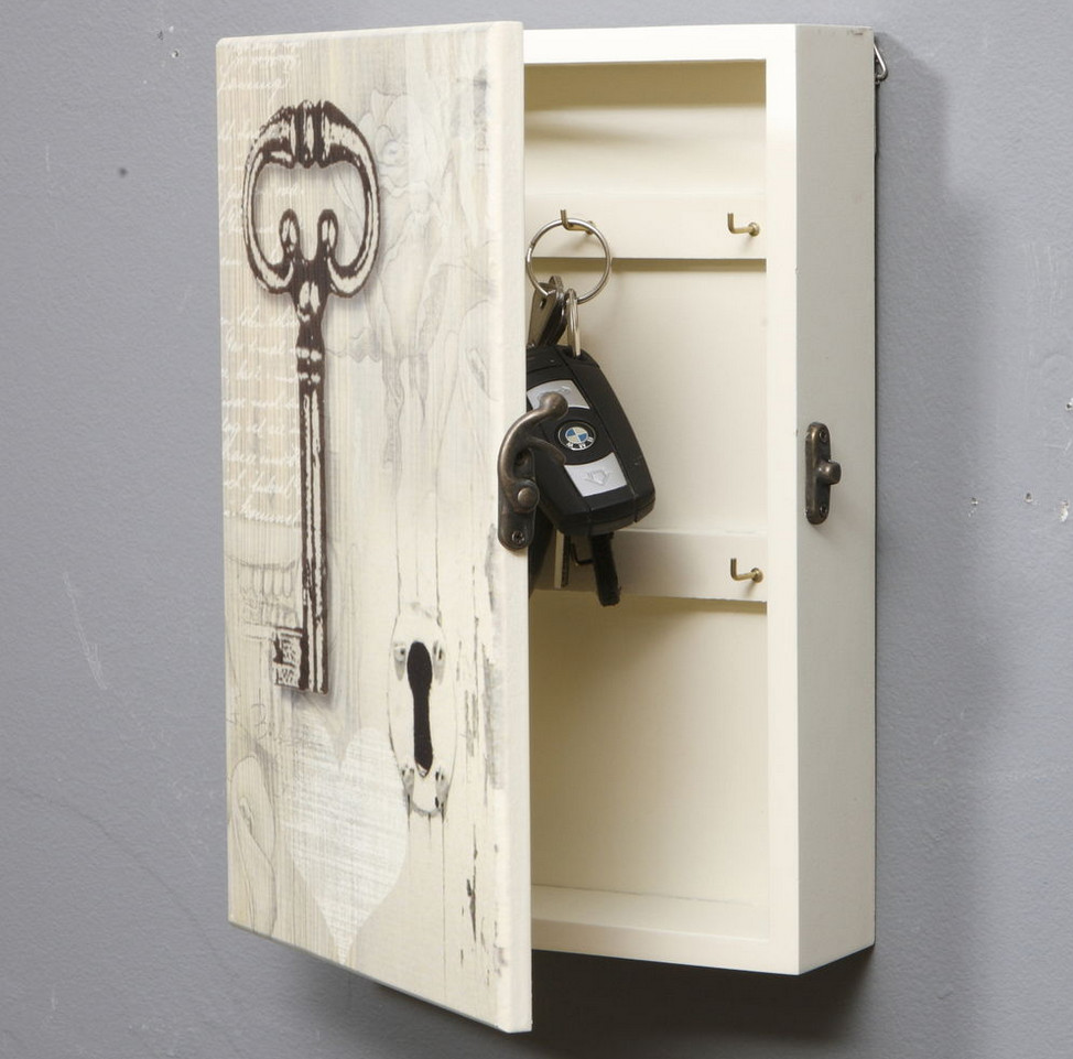 Antique Key Holder Wall Interior Design Ideas