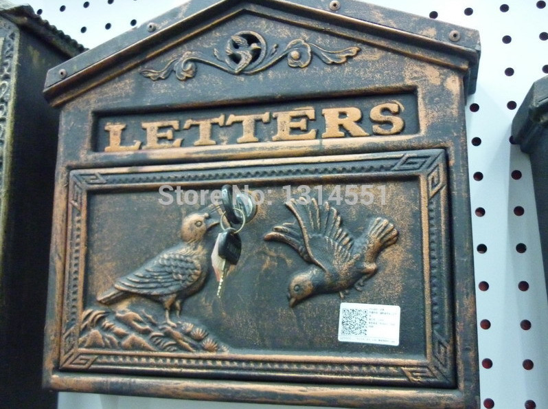 antique wall mount mailbox