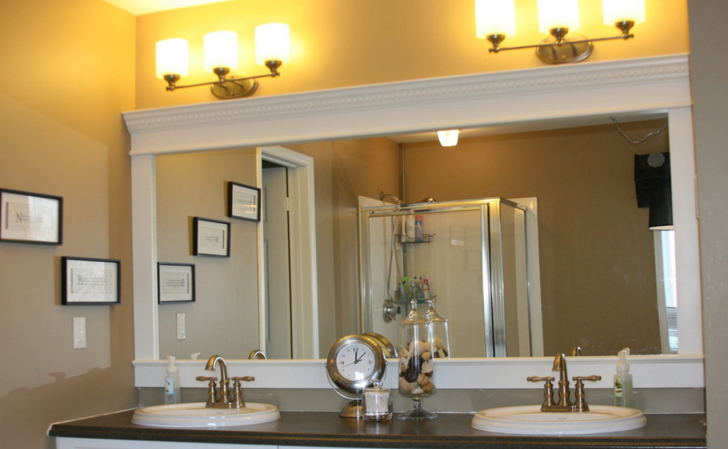 bathroom mirror frames kits