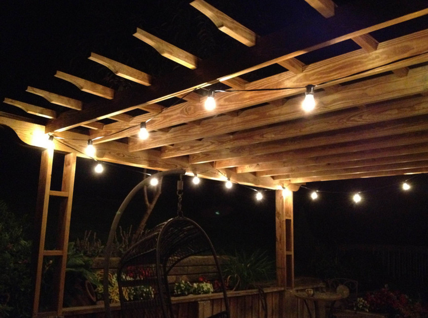 String Lights Across Patio : Battery Operated Patio String Lights Interior Design Ideas