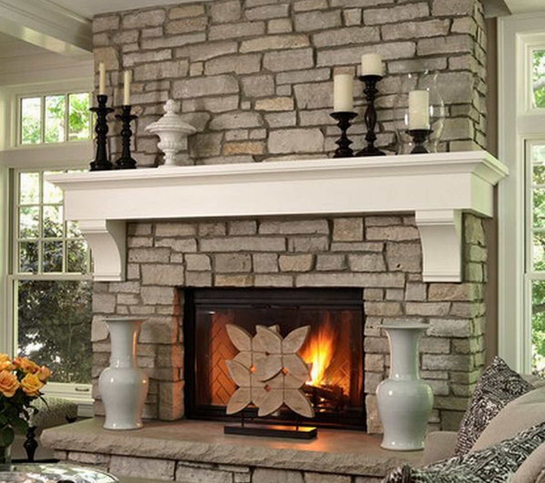 Attractive Beautiful Stone Fireplaces