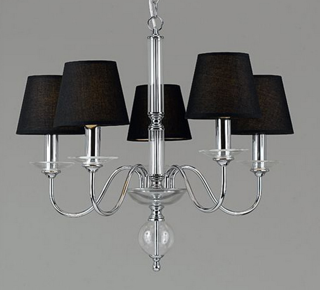 black and chrome chandelier