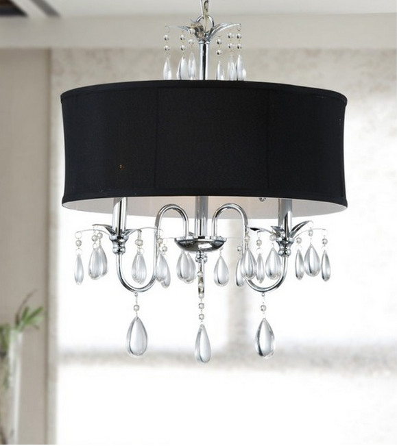 black glass chandelier lighting