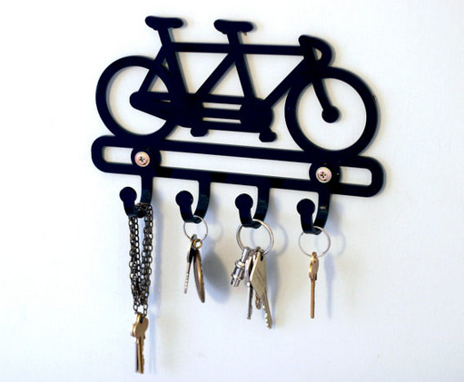 black key holder wall