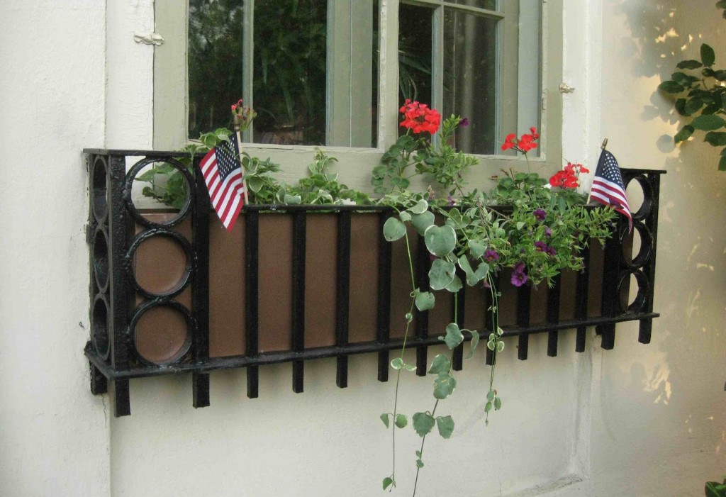black metal window boxes