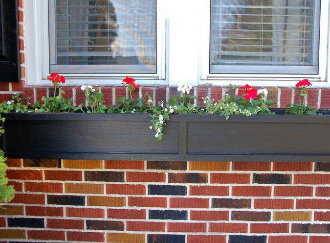 black square planter boxes