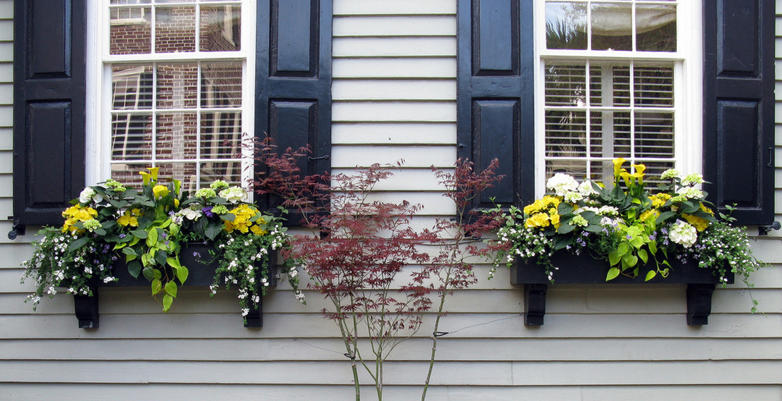 black vinyl window boxes