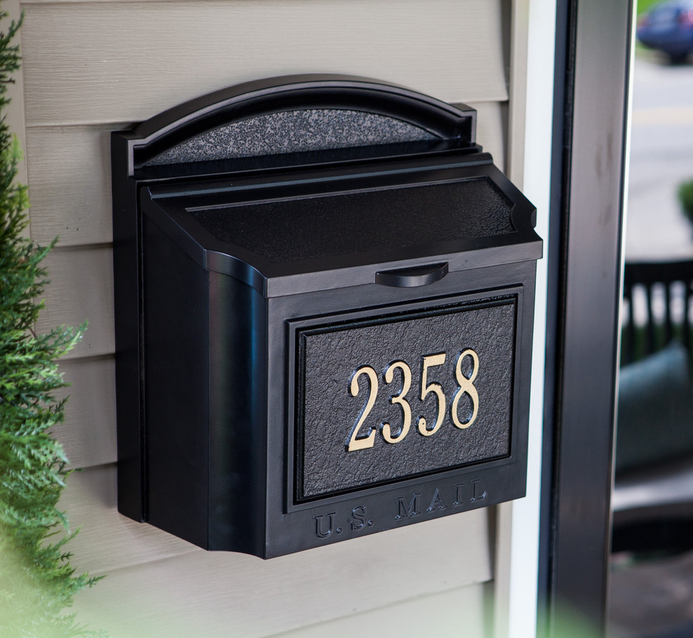 Black Wall Mount Mailbox Interior Design Ideas