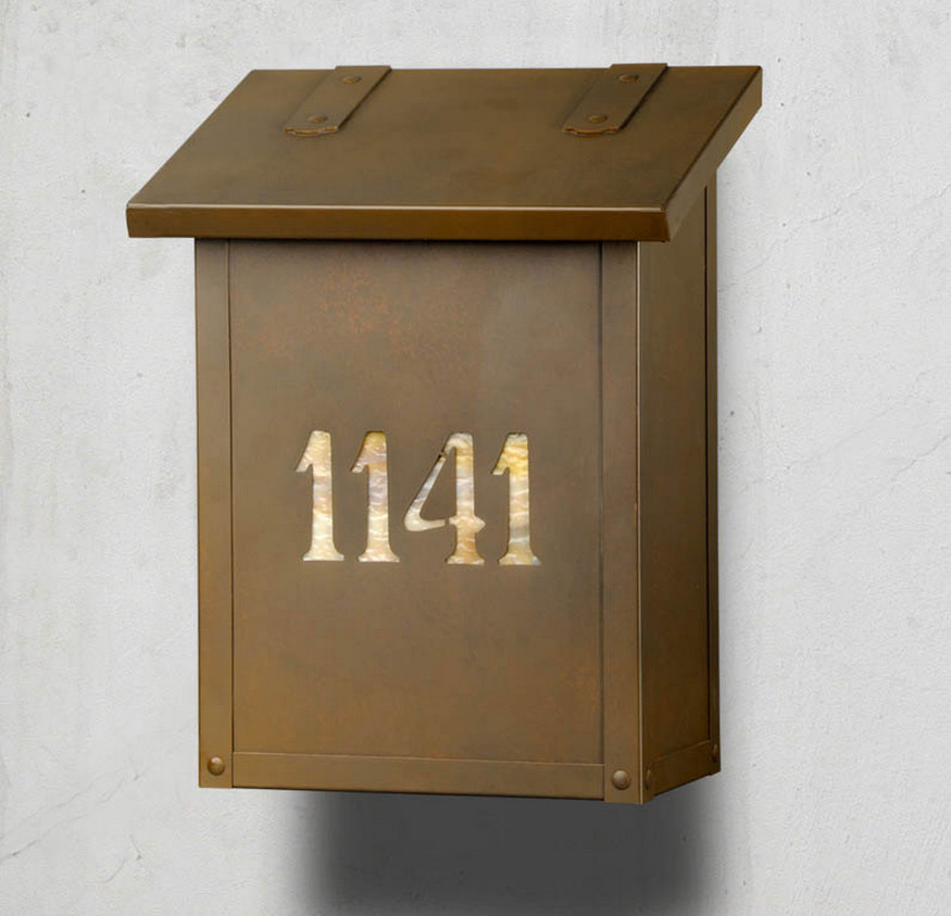 brass wall mount mailbox