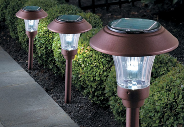 bronze solar path lights