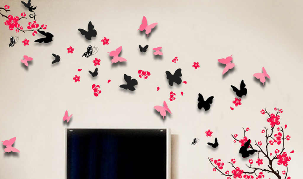 Butterfly Wall Stickers For Bedrooms Butterfly Decals For Baby Room  Butterflies For Wall Decoration ... Part 76