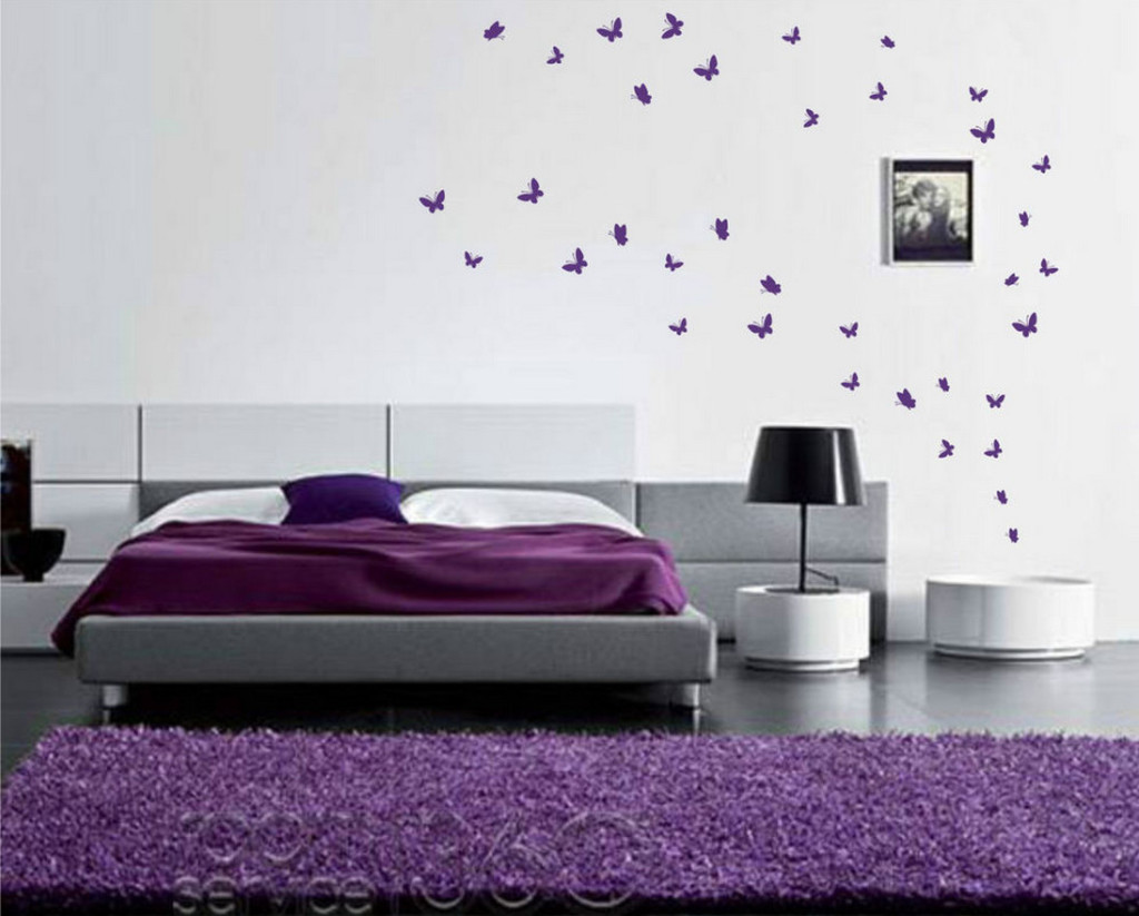 black butterfly wall decals butterfly stickers for bedroom walls ...