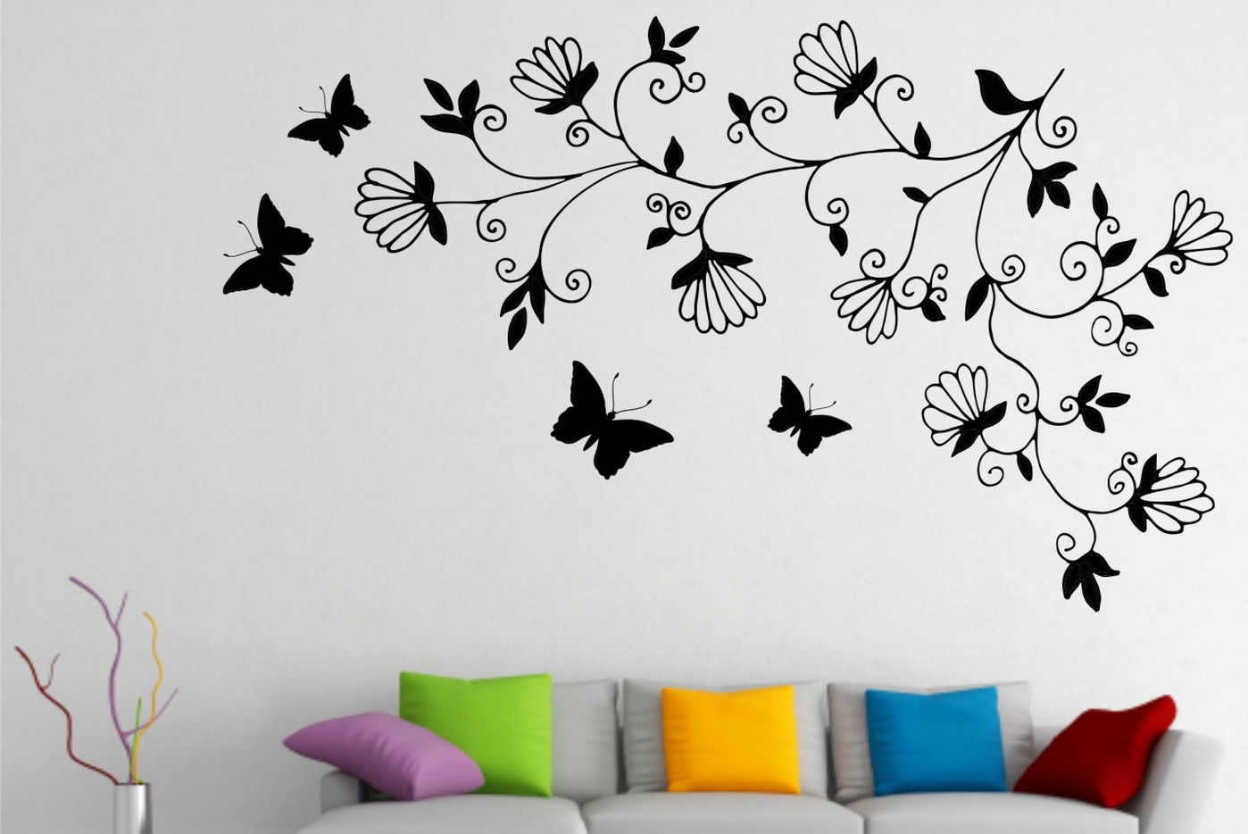 butterfly tree wall stickers