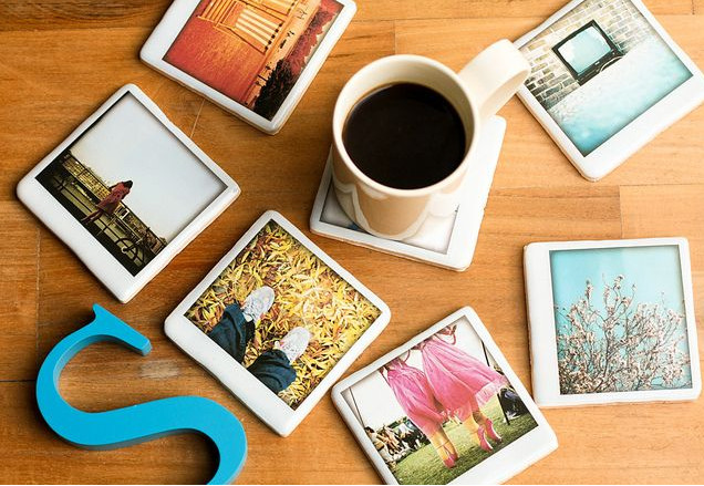 ceramic tile photo coasters