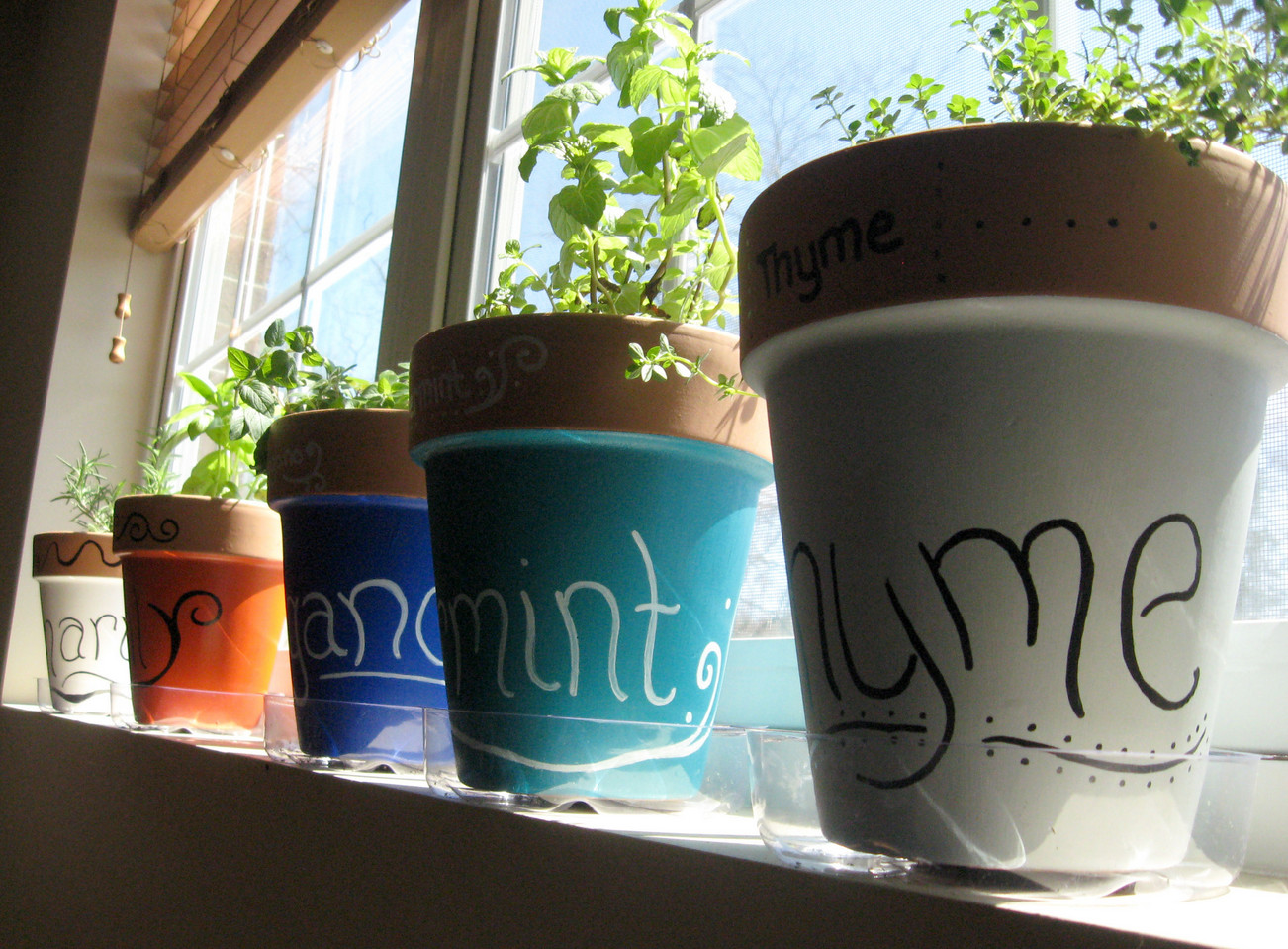 ceramic window sill planter