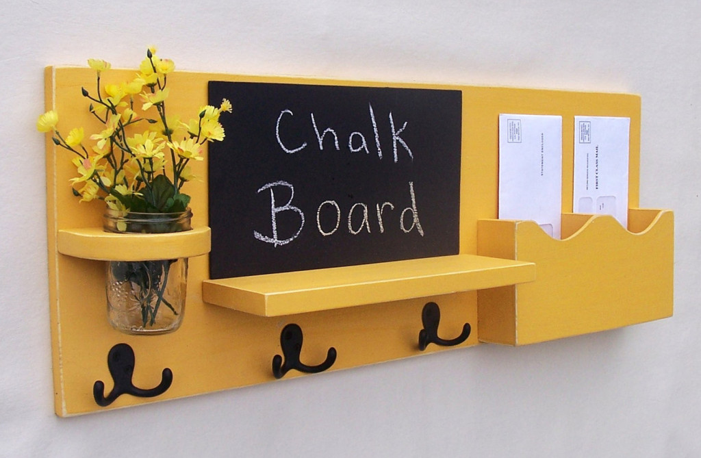 chalkboard mail and key holder