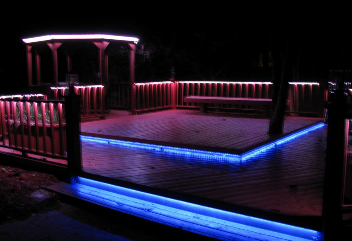 colour changing led deck lights