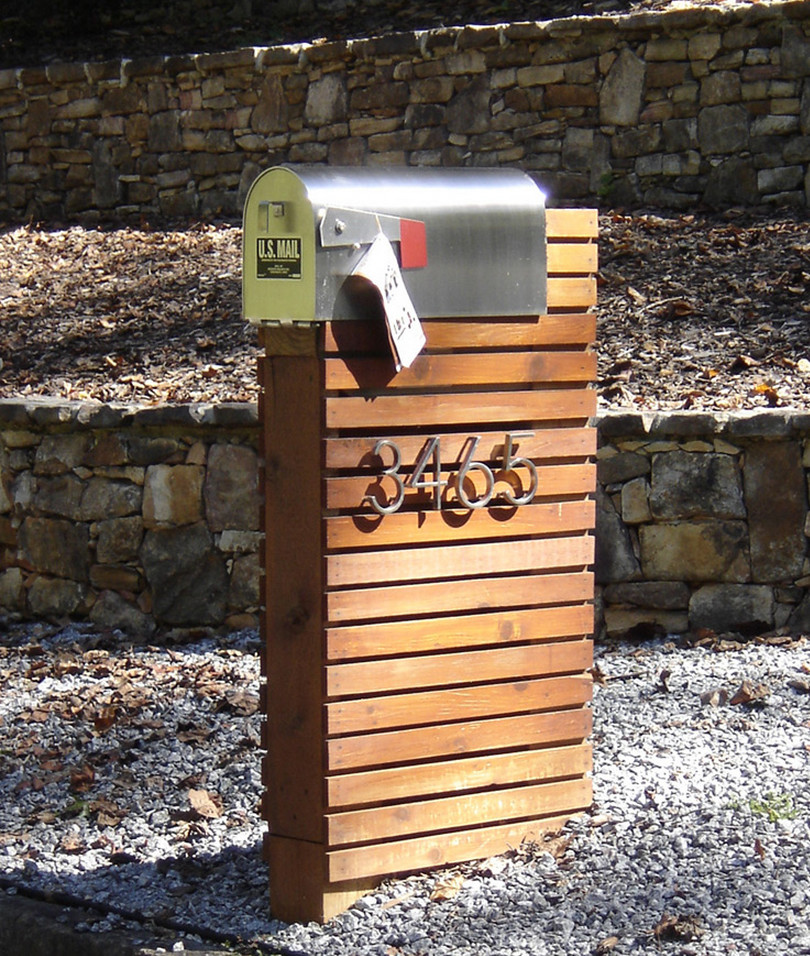 contemporary mailbox post