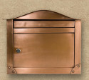 copper wall mount mailbox