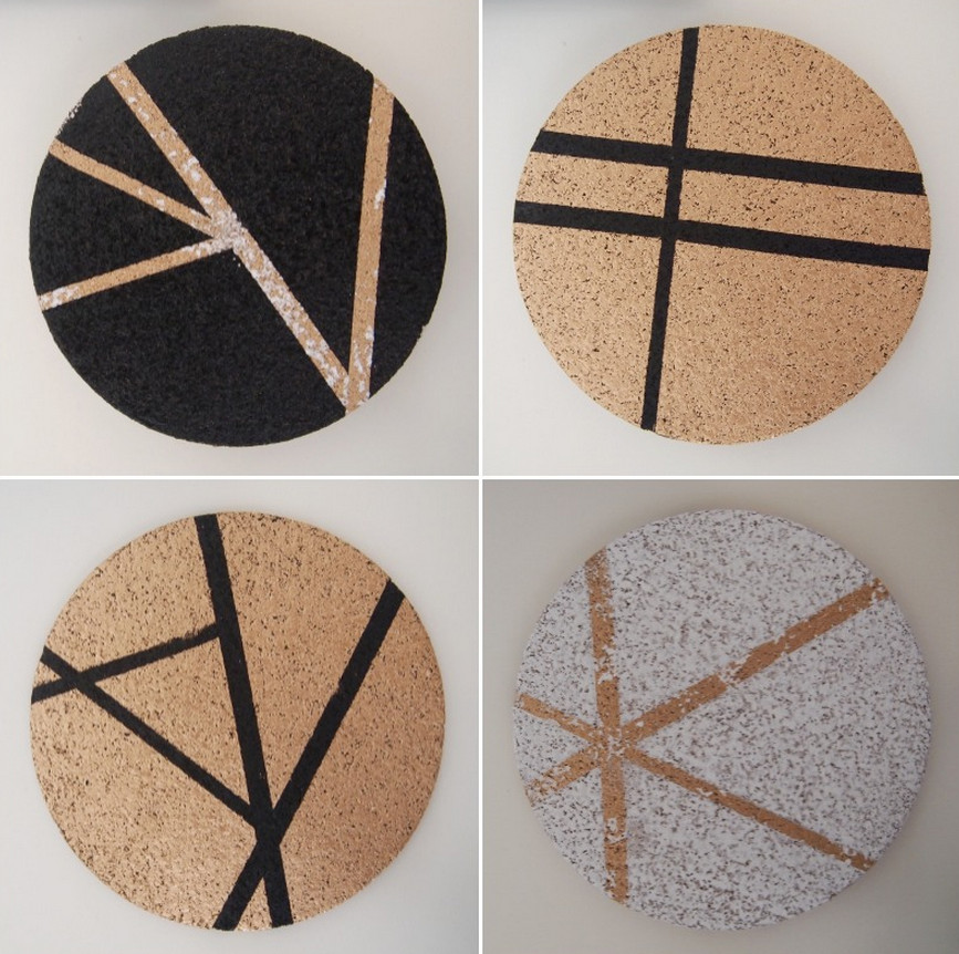 cork board coasters diy