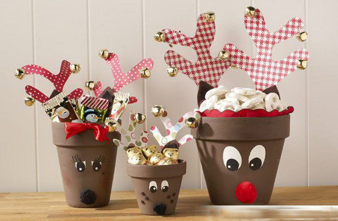 Flower pot decoration with clay for Art and craft pot decoration