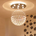 crystal ball chandelier lighting fixture