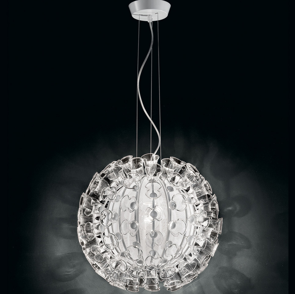 crystal ball pendant light