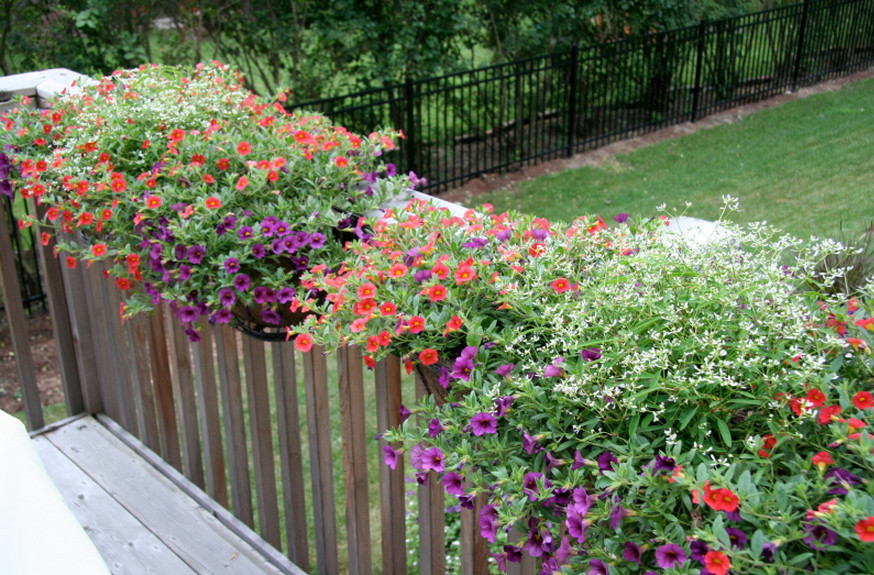 deck railing planter boxes