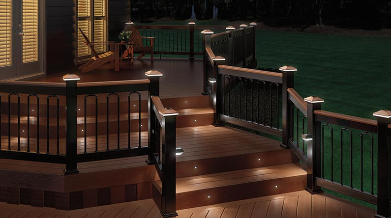 deck railing solar lights