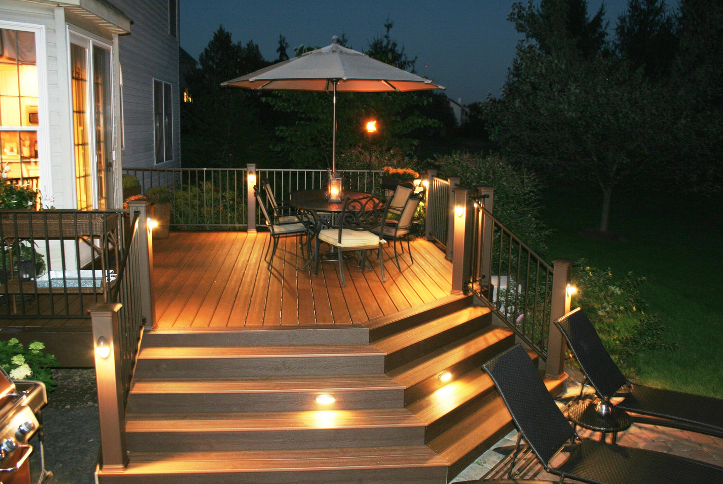 deck step lights low voltage