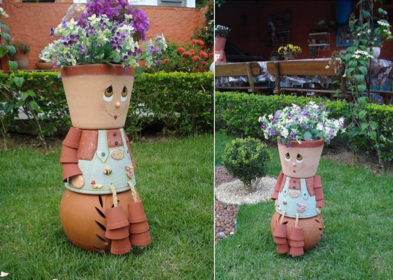 Flower pot crafts and how they are done interior design for Art and craft pot decoration