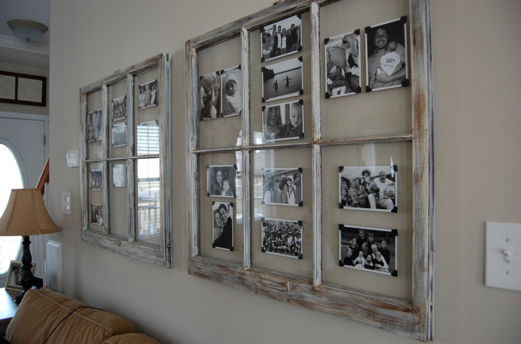 decorating ideas for old window frames