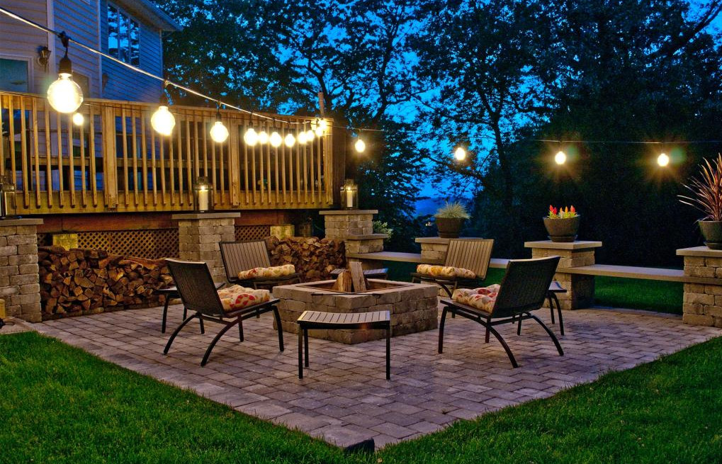 decorating patio with string lights
