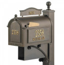 decorative cast iron mailbox post