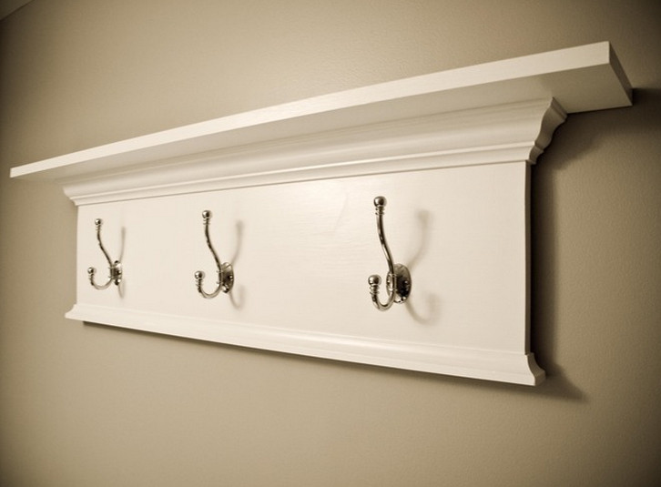 decorative shelves with hooks