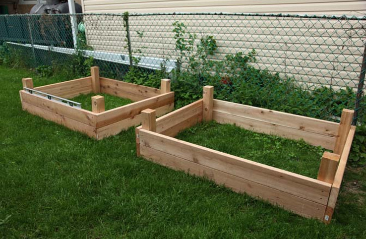 diy elevated garden bed