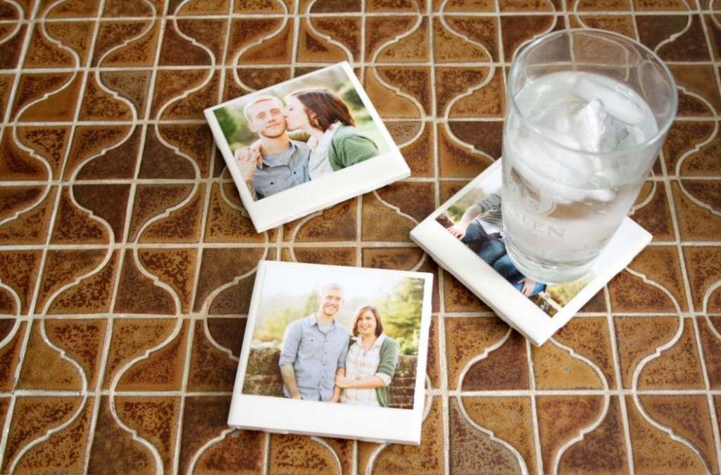 diy glass photo coasters
