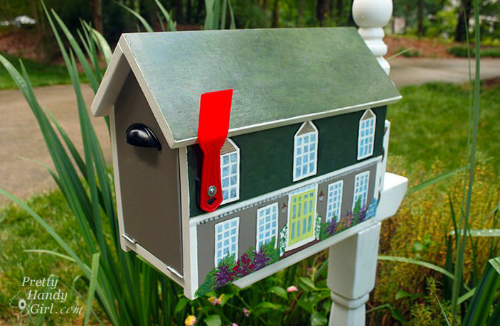 diy mailbox post ideas