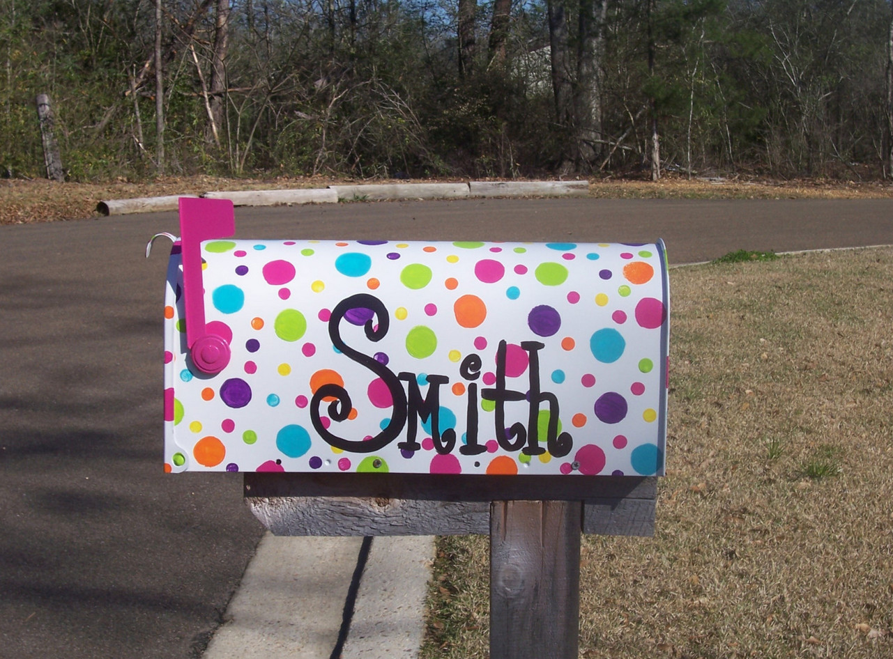 diy painted mailboxes