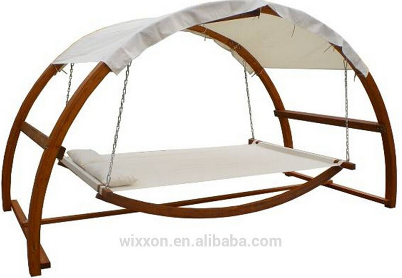 double hammock with wooden stand