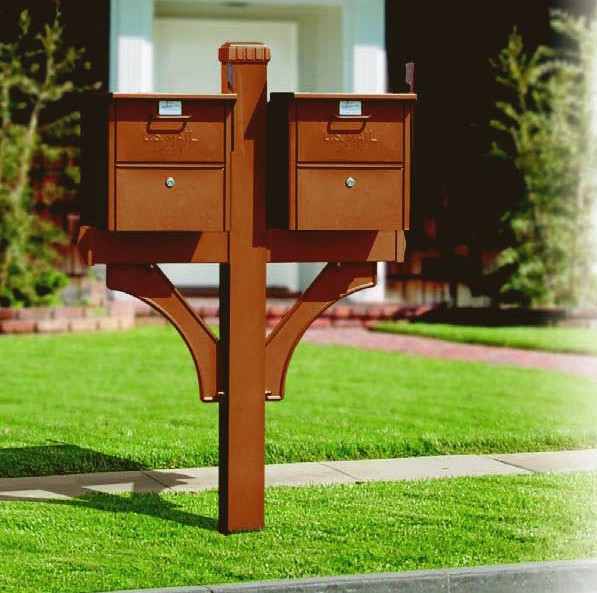 Double Mailbox Post Designs Interior Design Ideas