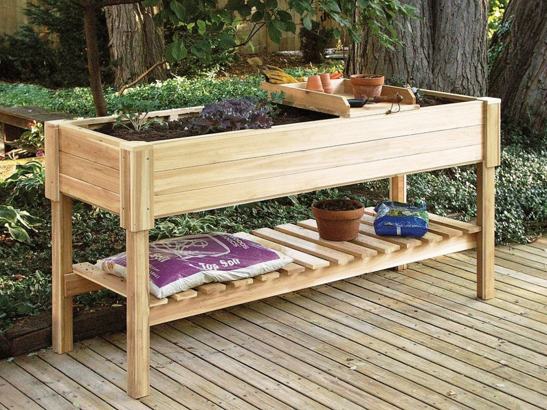 elevated garden beds on legs