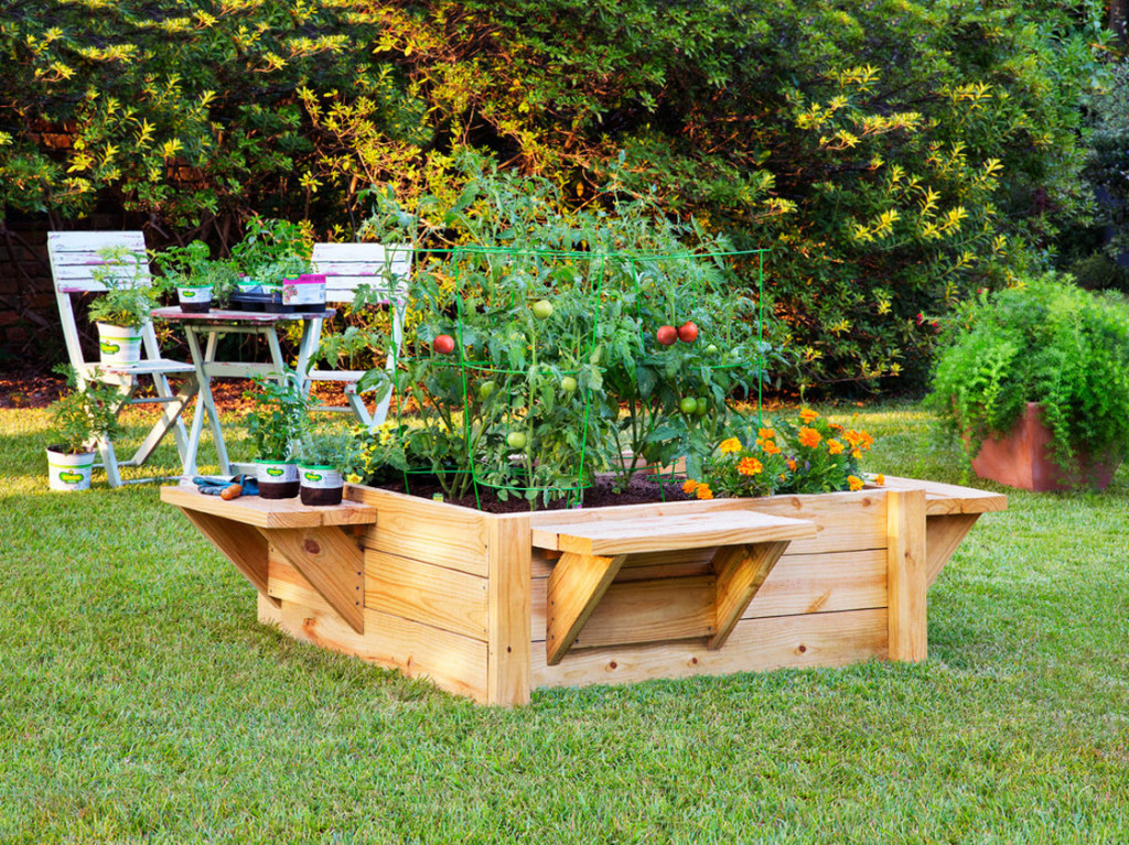 elevated raised bed garden