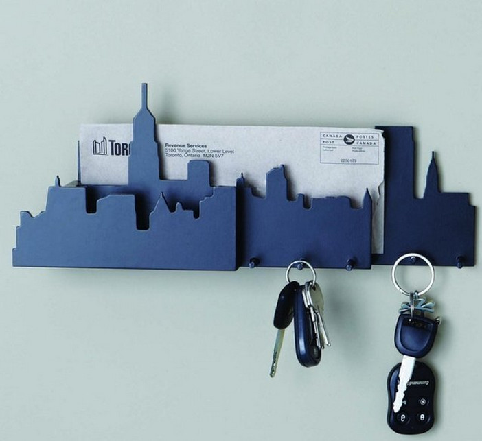 entryway mail and key wall organizer