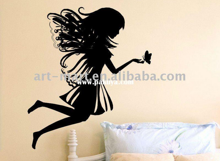fairy and butterfly wall stickers