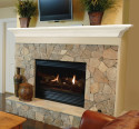 faux fireplace mantel surround