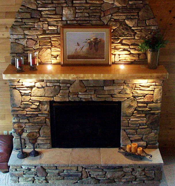 Faux stone fireplace mantel interior design ideas for Faux marble fireplace mantels
