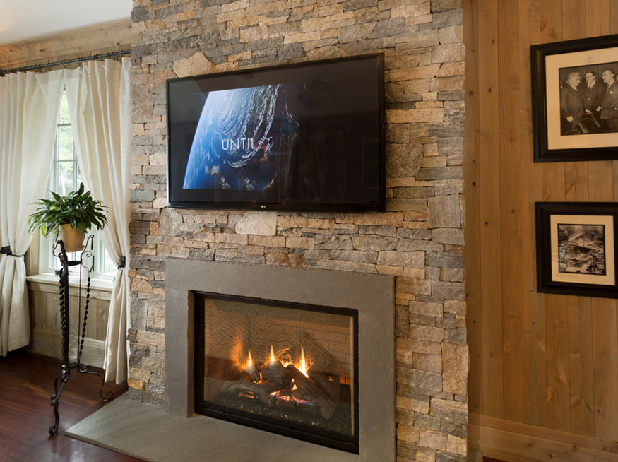 faux stone fireplace mantels